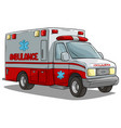 cartoon ambulance emergency car or truck vector image vector image