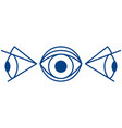 cartoon eye symbol vector image vector image