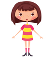 Cartoon little girl