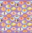 cartoon seamless pattern healthy oatmeal porridge vector image vector image