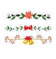 christmas bells watercolor vector image