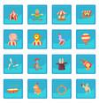 circus icon blue app vector image vector image