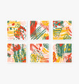 collection of square backgrounds with abstract vector image