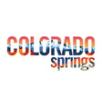 colorado springs with pikes peak and red rocks vector image vector image