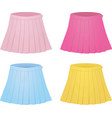 colorful set of pleated skirts vector image