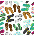 colorful variation of flip flops summer shoes vector image vector image