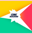 comic background with bright halftone effect vector image vector image
