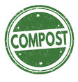 compost sign or stamp vector image vector image