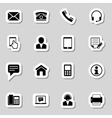 Contact Icons Set as Labes vector image vector image