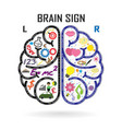 Creative left and right brain Idea concept vector image vector image
