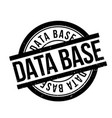 data base rubber stamp vector image vector image
