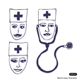 Doctors Three icon faces vector image