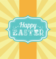 Easter carnival badge vector image vector image