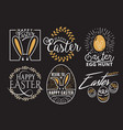 easter wishes logo labels vector image vector image