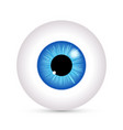 eye look icon eyeball vision blue eyesight vector image