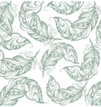 Feathers background vector image vector image