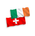 flags ireland and switzerland on a white vector image