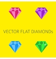 Flat diamonds vector image vector image