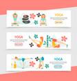 flat yoga horizontal banners vector image vector image