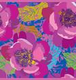 floral seamless pattern flower rose background vector image vector image