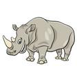 funny rhinoceros animal cartoon character vector image vector image