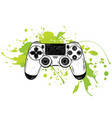 gamepad for game consolethe joystick vector image