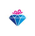 gift diamond logo icon design vector image