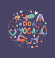 group of yoga woman vector image