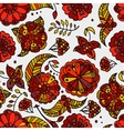 hand drawn floral oklahoma seamless pattern vector image