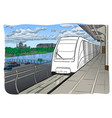 hand drawn sketch moscow light metro station vector image