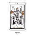hand drawn tarot card deck major arcana vector image vector image