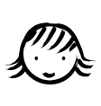 happy girl drawn isolated icon design vector image