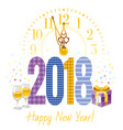 happy new year 2018 text logo icon poster vector image vector image