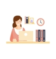 Happy Smiling Woman Office Worker In Office vector image vector image