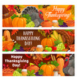 happy thanksgiving holiday turkey autumnal harvest vector image vector image