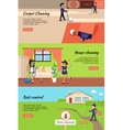 House Cleaning Pest Control Cleaning Carpet vector image vector image