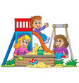 image with playground theme 1 vector image