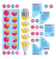 infographics template idea with pencil vector image vector image