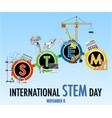 international stem day on november 8th banner vector image