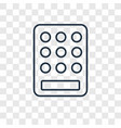keypad concept linear icon isolated on vector image