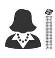 lady icon with people bonus vector image vector image