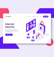 landing page template of internet security vector image vector image