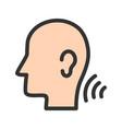 listening skills vector image vector image