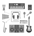 Musical instruments flat icons vector image vector image