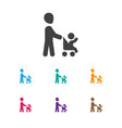 of folks symbol on daddy icon vector image vector image