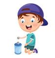 of kid saving money vector image