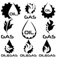 oil and gas industry design elements set vector image