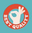 okay hand sign vector image