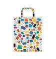 Online shopping bag social media icon shape design