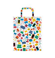 online shopping bag social media icon shape design vector image